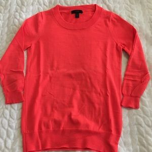 Coral J. Crew Tippi Sweater